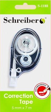 Корректор ленточный, ширина 5 мм, 3 цвета корпуса (S1188)