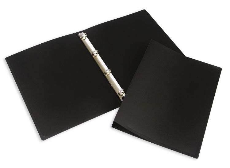 Папка на 4 кольца А4 (35мм) ПВХ - черный