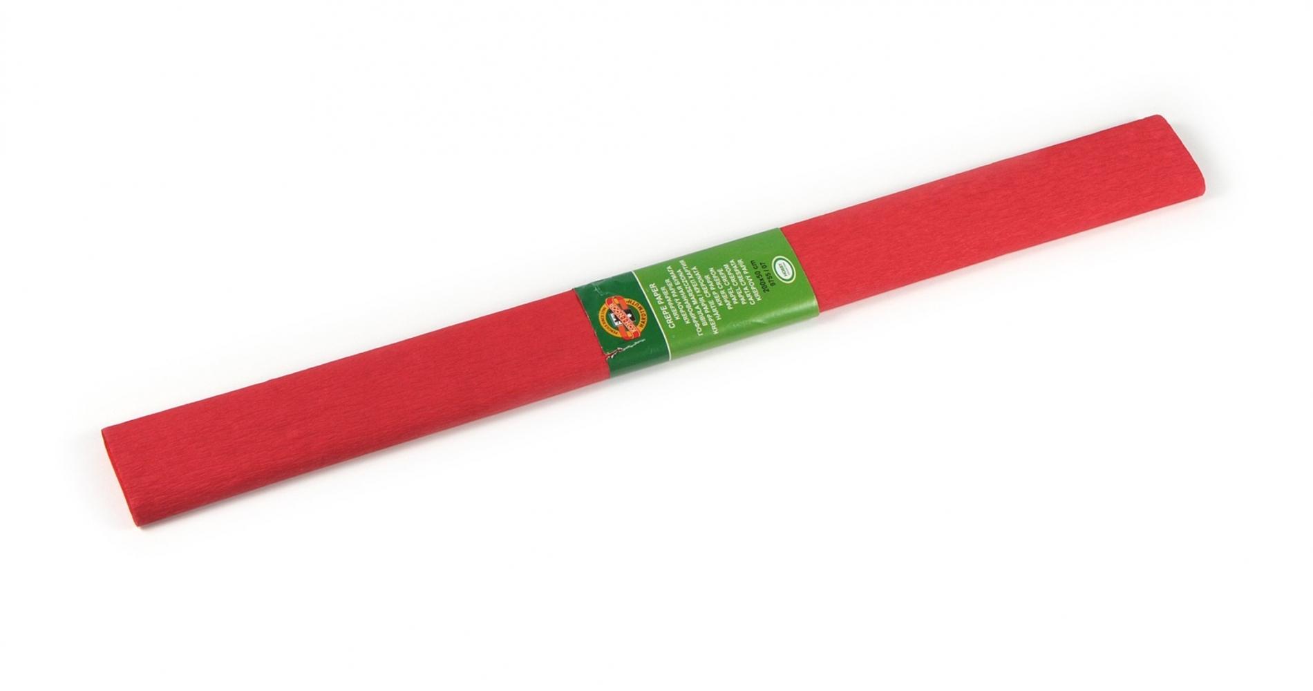 Бумага креповая для творчества, красный насыщенный (9755/07)