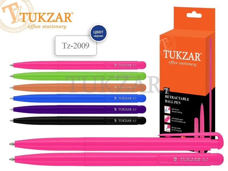 Ручка автоматическая TUKZAR VEGA, корпус ассорти 4 цвета