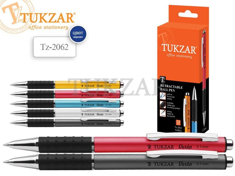 Ручка автоматическая TUKZAR VERTA, с клипом, корпус ассорти 4 цвета