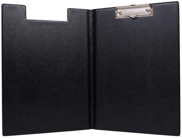 Планшет с зажимом A4 ПВХ, картон, карман-уголок, черная арт. 2118-107