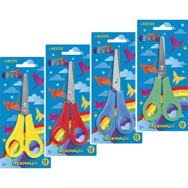 Ножницы детские deVENTE Cosmo 13 см, пластиковые кольца