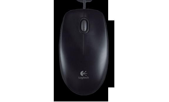 Мышь Logitech B100 Optical USB Mouse Black