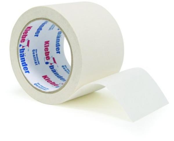 Лента упаковочная клейкая, белая, 57 м х 50 мм