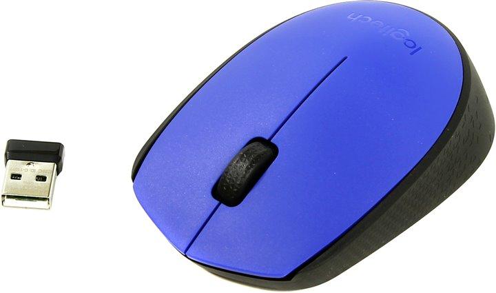 Мышь  Logitech Wireless M171 Blue