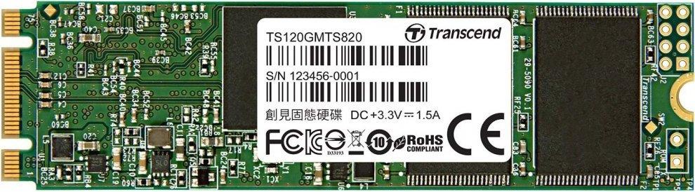 Накопитель SSD M.2 SATA3 - 120GB MTS820 TS120GMTS820S
