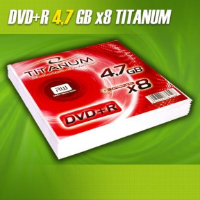 Диск DVD+R 4.7Gb Titanum конверт