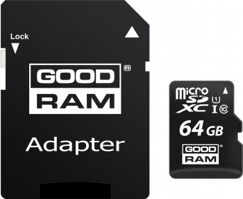 Карта памяти GOODRAM M1AA-0640R12 64GB micro card Class 10 UHS I+ adapter