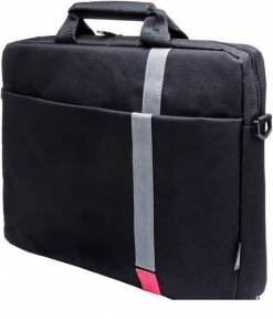 "Сумка для ноутбука PCP-1001RD 15,6"" Polyester HQ Classic Toplader Front compartment Red Patch, черный"