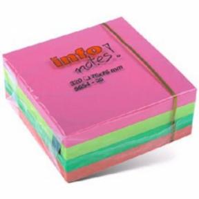 Бумага  для зам. GN 75х75 400л, 4цв. (куб)