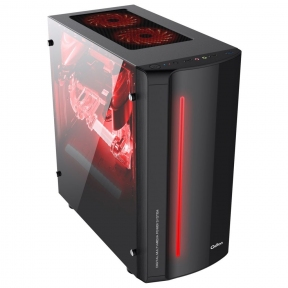 Корпус FSP QD-702BGM GAMING mATX Black