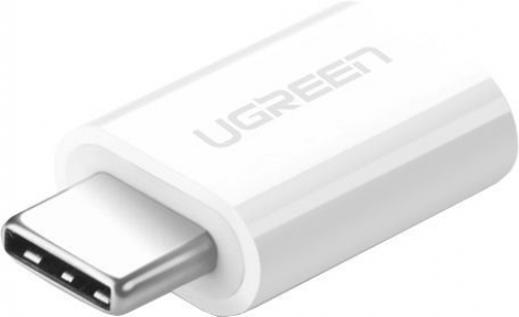Адаптер UGREEN US157 USB-C 3.1 - Micro USB, цвет белый