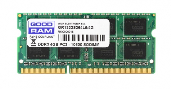 Модуль памяти GOODRAM GR1600S364L11S/4G; SODIMM DDR3 4Gb PC3-12800