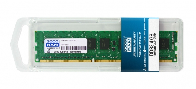 Модуль памяти DDR3L-1600 4GB PC-12800 GOODRAM GR1600D3V64L11S/4G
