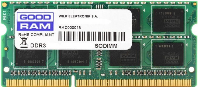 Модуль памяти DDR3-1600 4GB PC3-12800 GOODRAM GR1600S3V64L11S/4G (SODIMM)